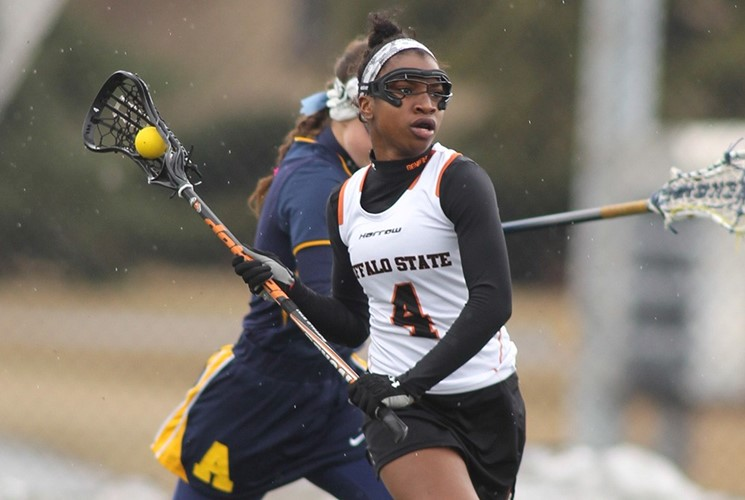 Cassie Saint-Vil scored her first two goals of the year against Allegheny.