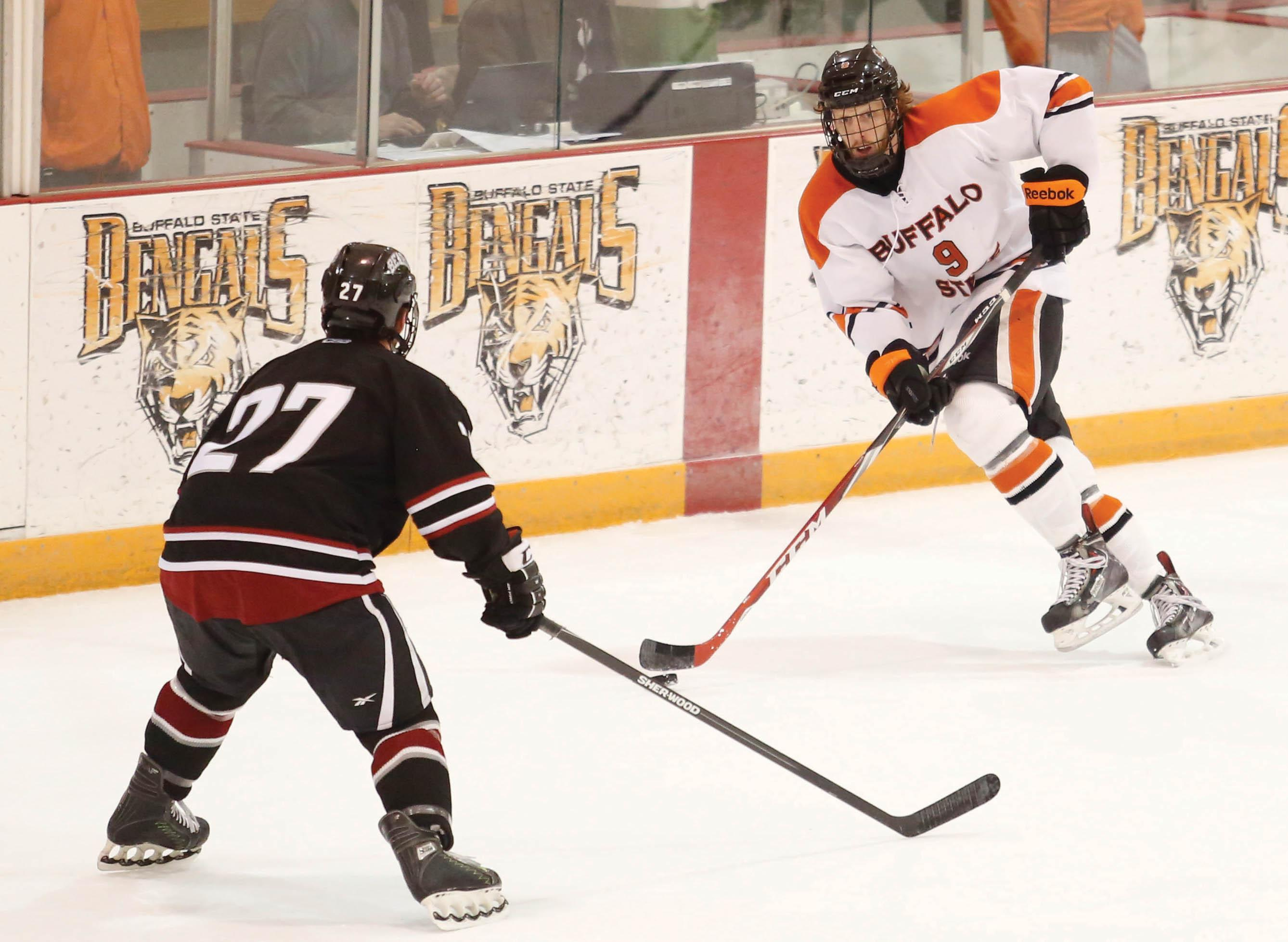 Senior forward Ryan Salkeld finished his four-year Buffalo State career with 73 points, 10th all-time in program history