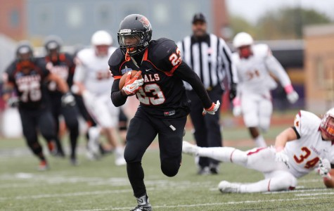 Buffalo State running backs Tre Jones (left) and Dale Stewart (right) were the one-two punch of the Bengals' SUNYAC leading rushing attack which compiled 2,088 rushing yards in 2015.