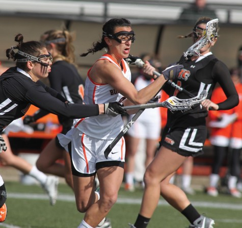 Senior attacker Sarah Lorusso, a former two-sport athlete at Hilbert College, leads the SUNYAC in turnovers caused per game (2.25) and is third ground balls per game (2.83)