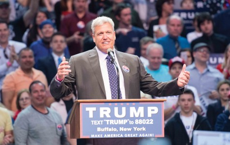 Buffalo Bills head coach Rex Ryan introduced Donald Trump at the First Niagara Center on Monday.