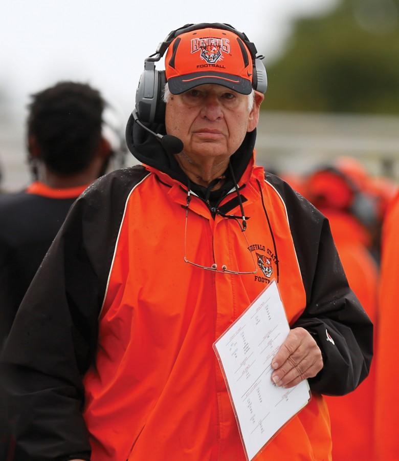 Gene Zinni coached football at the University at Buffalo and Buffalo State.