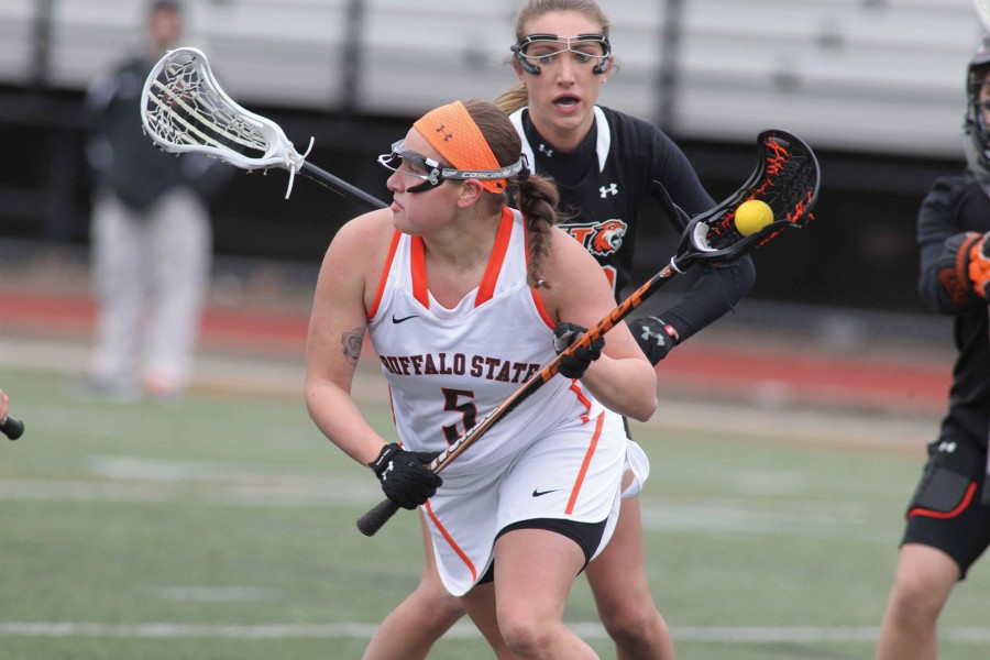 Alanne Herne- this week's Buffalo State  Athlete of the Week- is second in the SUNYAC with 33 goals.