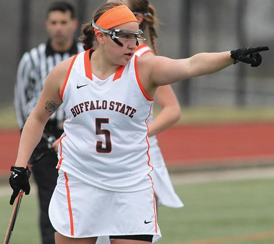 Sophomore attacker Alanna Herne finished second in the SUNYAC with 58 goals last season.