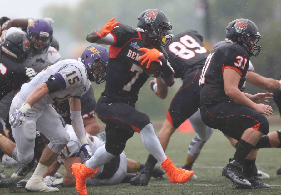 Junior running back Dale Stewart has scored all five Buffalo State touchdowns through two games.