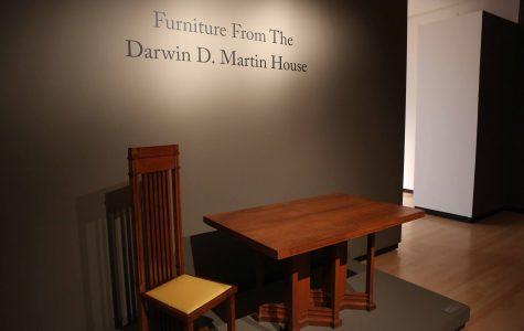 Darwin Martin House furniture showcased at Burchfield