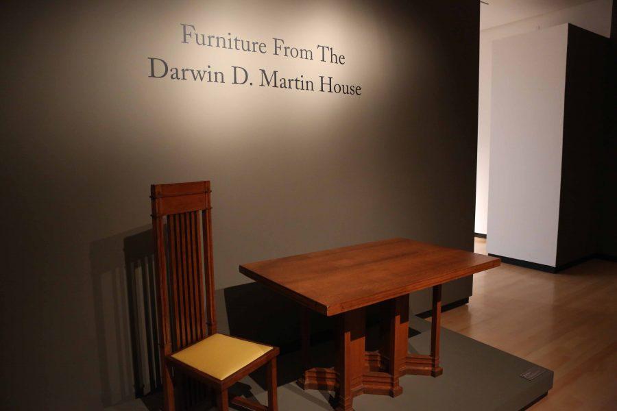 Darwin+Martin+House+furniture+showcased+at+Burchfield