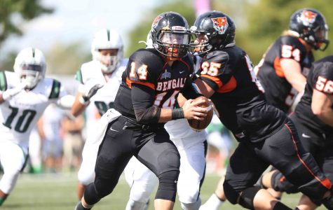 Buffalo State quarterback Aaron Ertel went 15 of 28 for 255 yards and two touchdowns in the win.