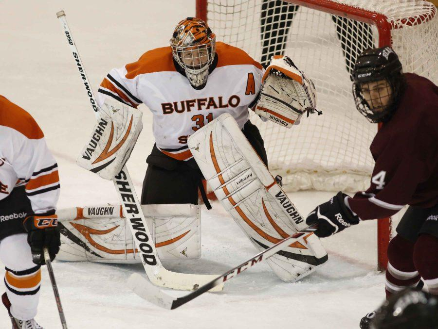 Former Buff State goalie Kevin Carr holds program records for career wins, shutouts and saves.