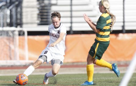 Junior midfielder Breanna Knight and the Bengals are first in the SUNYAC (6-1-2, 2-0 SUNYAC)