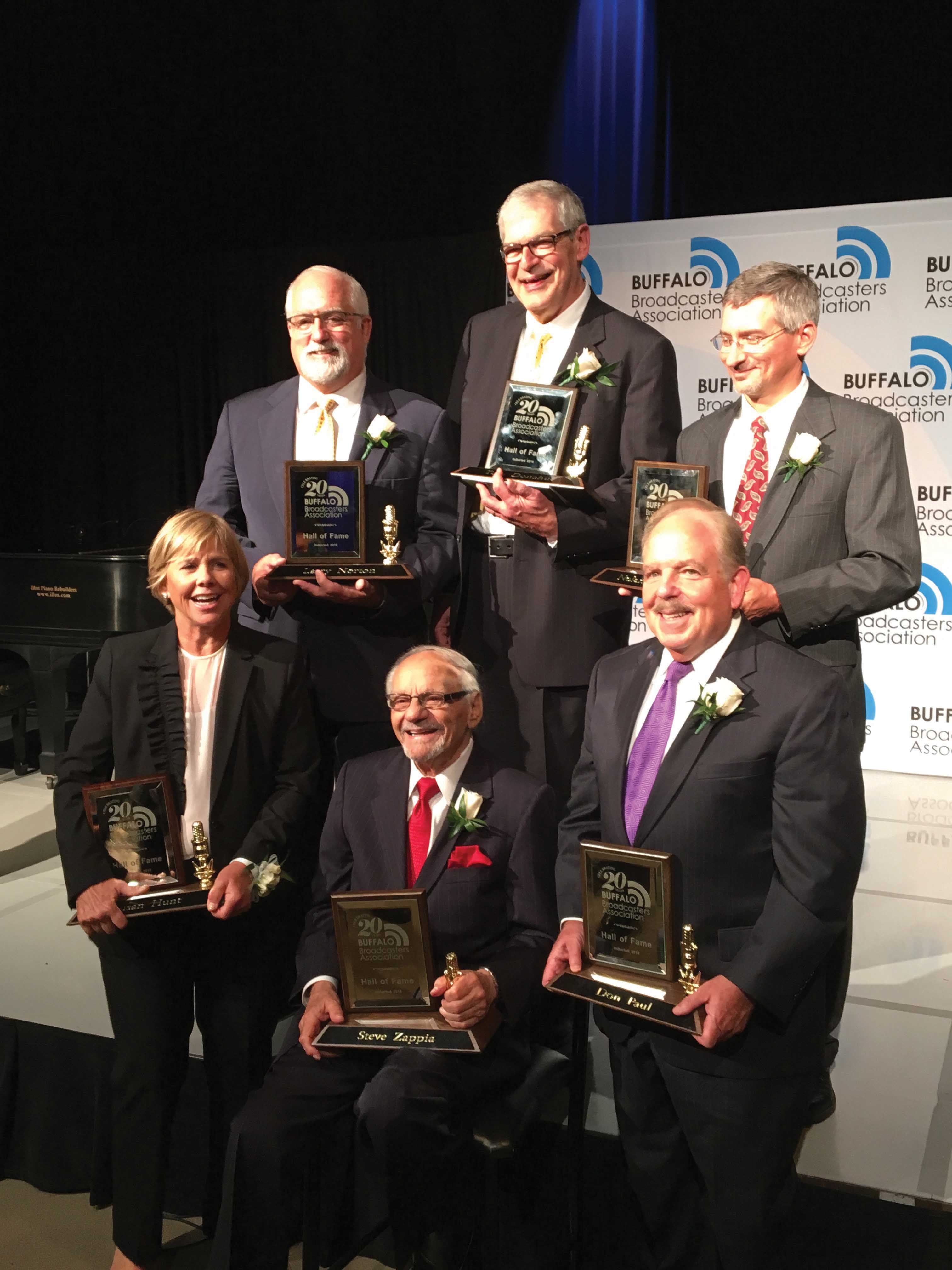 Tom McCray (top center) was inducted into the Association's Hall of Fame Thursday night.