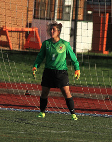 Freshman goalkeeper Taylor is one of three Carillos on the Buffalo State women's soccer team: her twin, Amber, and older sister, Alexis, both play defense.