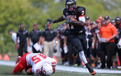 Football falls short against No. 14 Fisher,28-24
