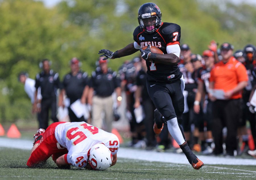 Junior running back Dale Steward rushed for 53 yards and a touchdown on Saturday.