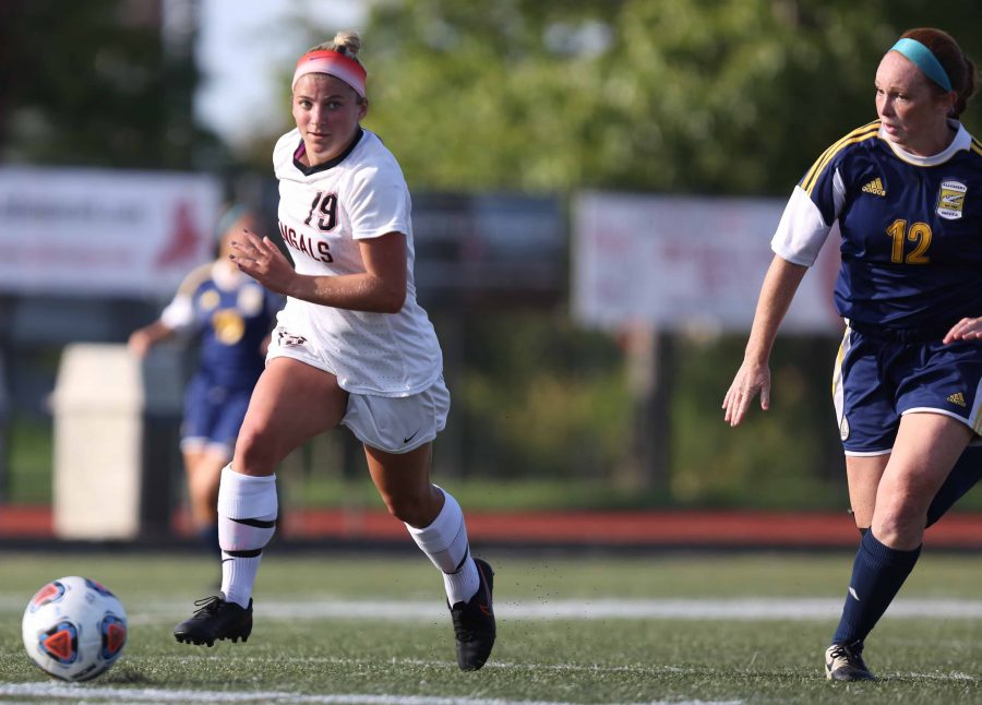 Senior forward Catherine Mammoser has a goal and two assists in the last three games. She assisted Tuesday's lone goal.