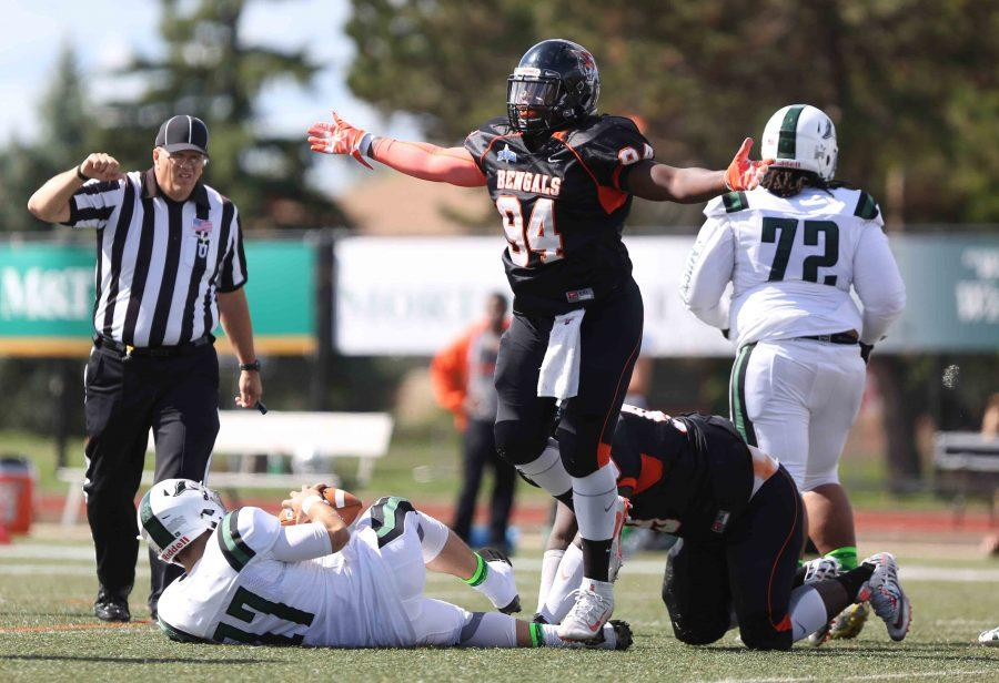 Buffalo State defensive end Cliff Brown and the Bengals pitched a shutout against Alfred State.