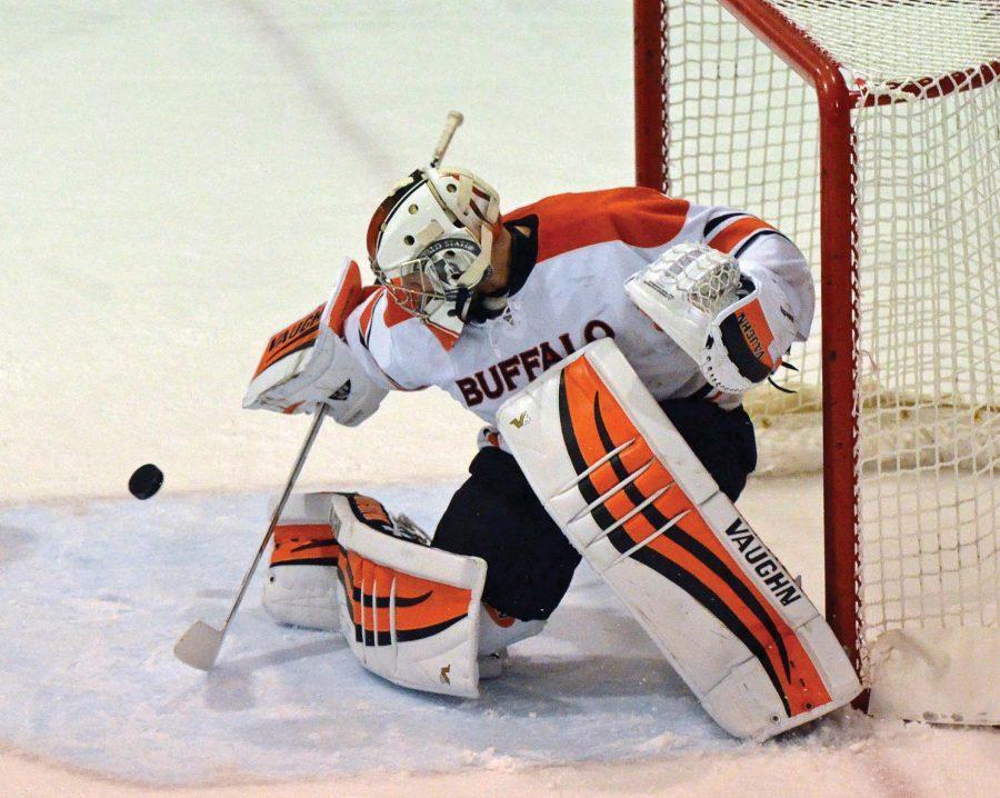Senior Mike DeLaVergne will move on to play for ECHL's Atlanta Gladiators.