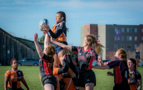 The women's rugby club continues its season, but looks for funds for the trip to Poughkeepsie, NY.