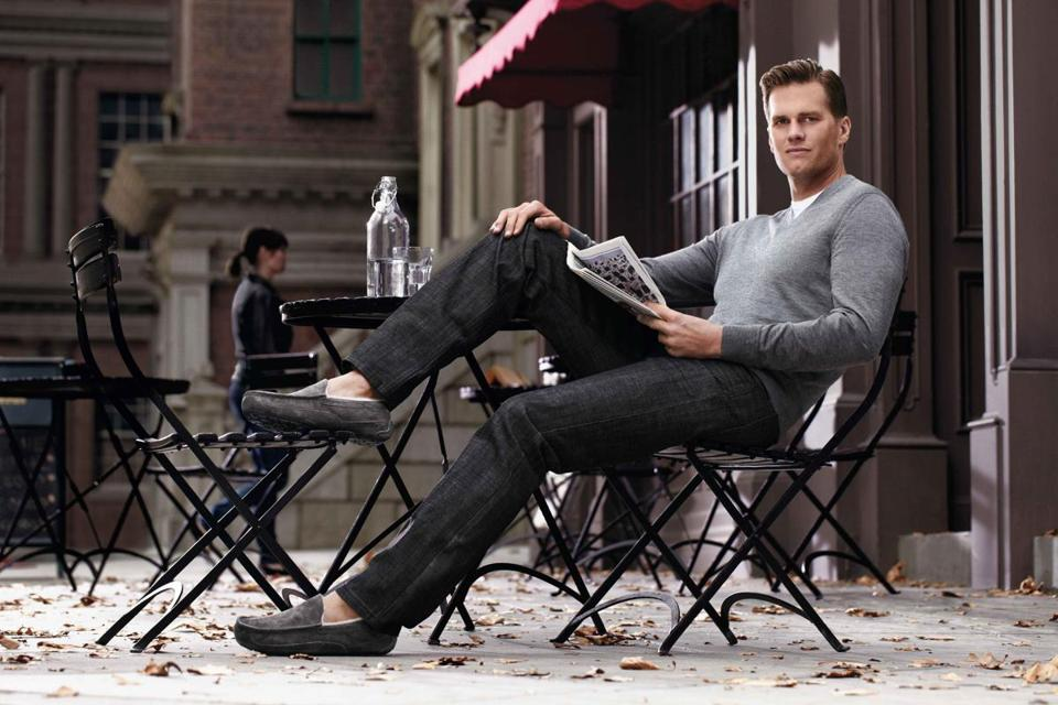 Five-time Super Bowl champion Tom Brady mean muggin' in a pair of Uggs.