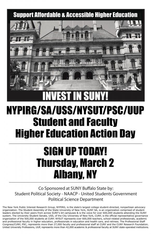 NYPIRG to lobby for higher education affordability in Albany on March 2