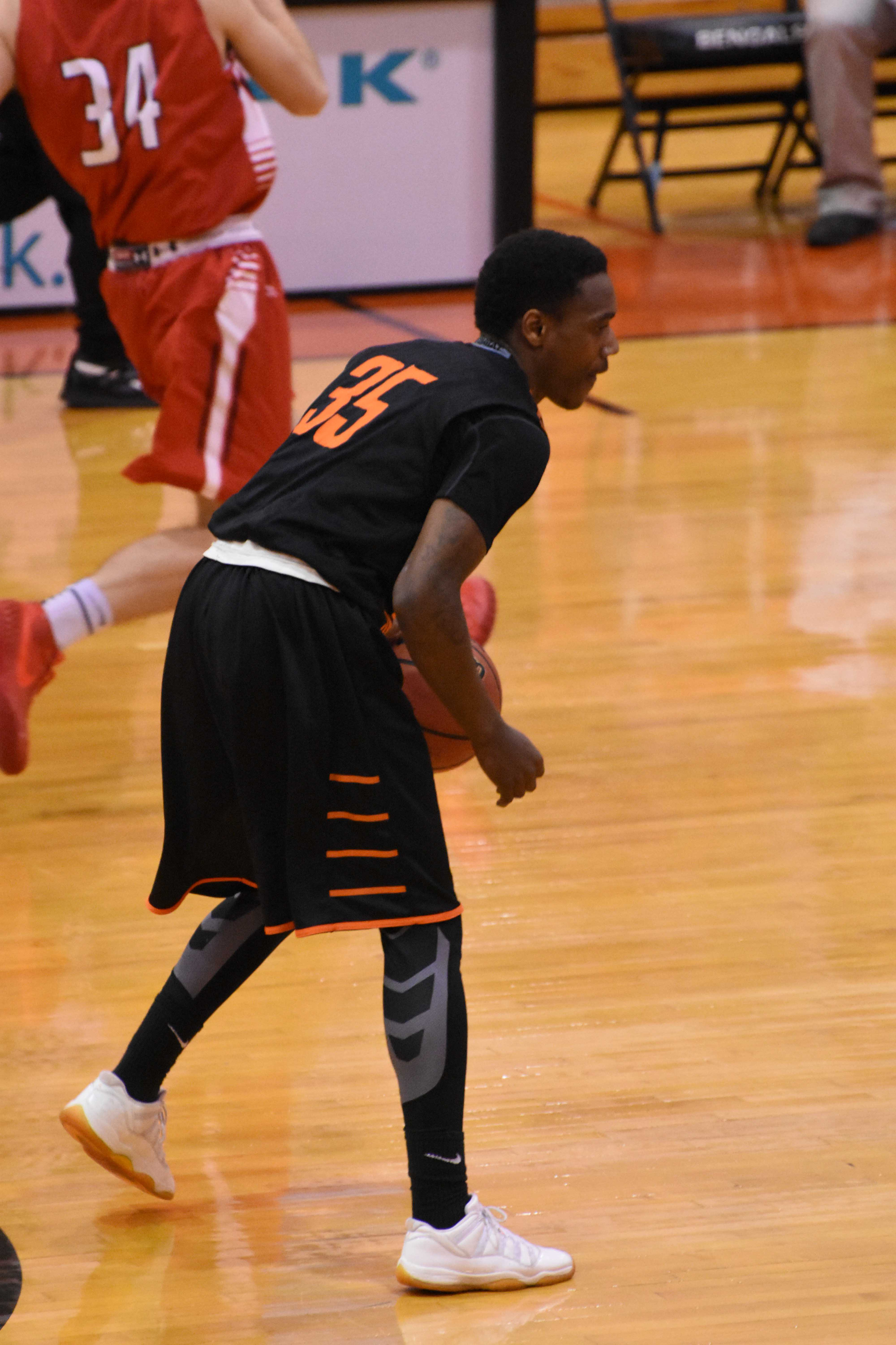 Senior Lovell Smith led the Bengals Tuesday with 18 points and nine rebounds in the win over Cortland.