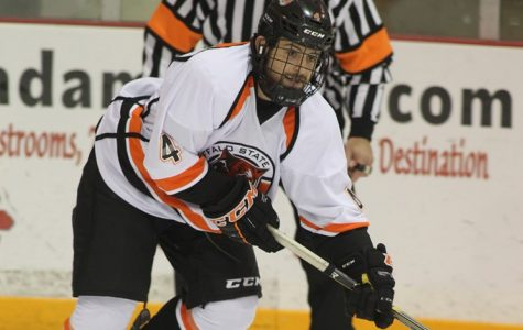 Since 2013, forward Jake Rosen has 23 goals and 37 career assists for Buffalo State.