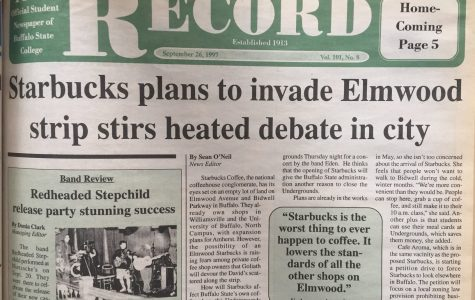 This 1997 story in The Record documents the decades-long fight against the commercialization of Elmwood Village