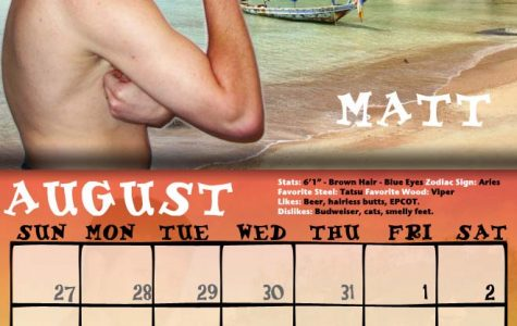 President Conway-Turner commissions the 2018 'Men of Buff State' swimsuit calendar