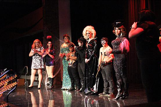 Performers in Pride Alliance's Drag Fashion Show in 2014.