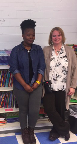 Ygeuette Rudahindwa (left) and Doreen Regan, ESL coordinator at the Herkimer School (right) have been working together for six months.