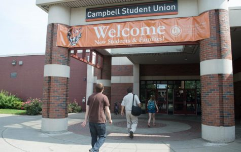 Water main break in the Campbell Student Union