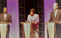 Two candidates challenge Mayor Brown in mayoral debate
