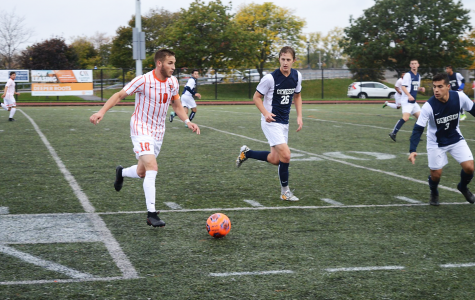 Men's soccer upset in playoff loss to Geneseo, 2-0