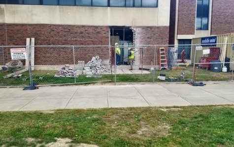 Minor construction in Classroom Building is wrapping up