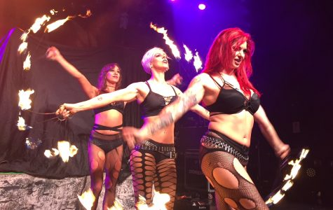Minnie, Lola and Cherry (Left to right) lit up the crowd during their show in Niagara Falls.