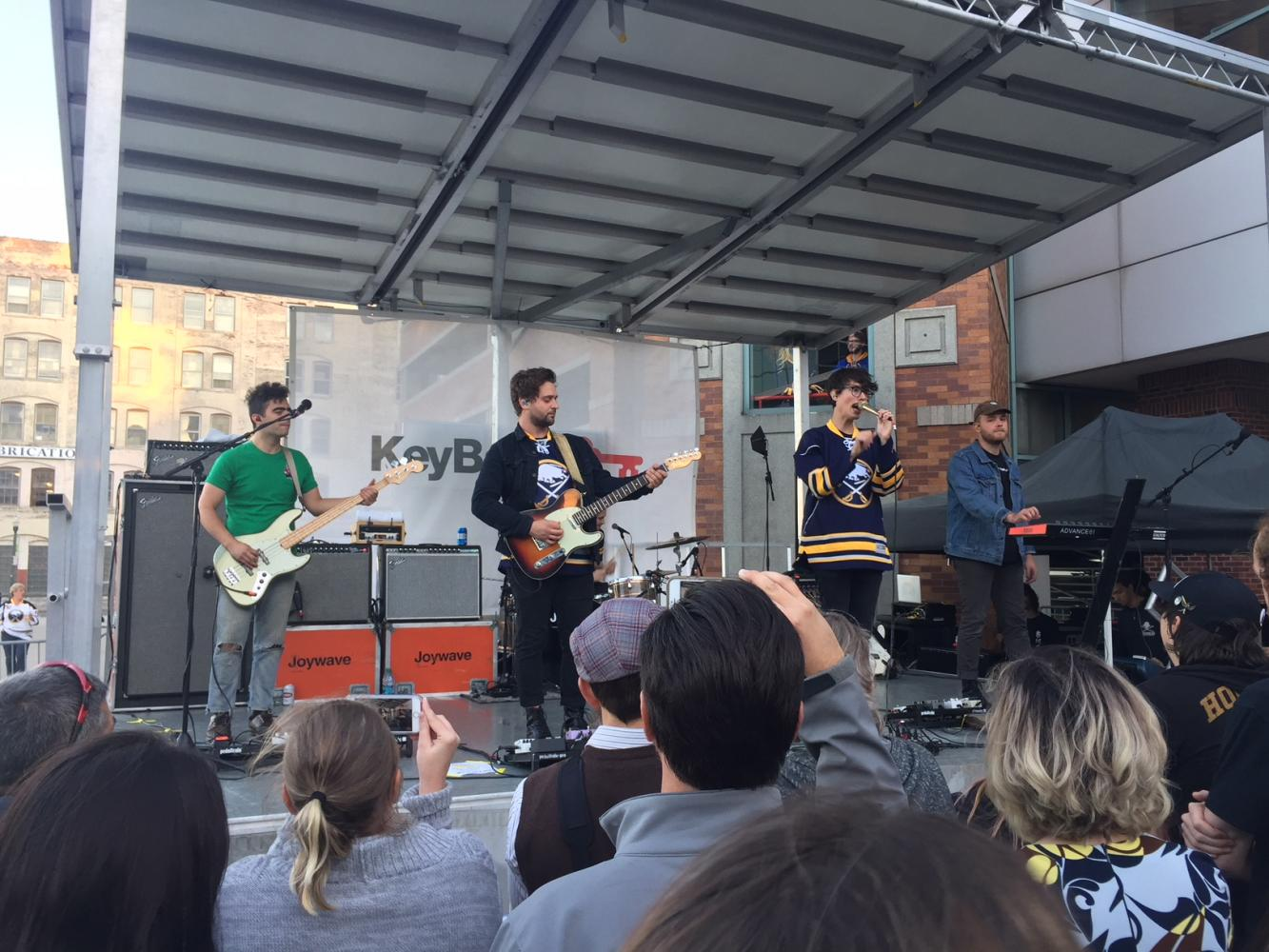 Rochester natives Joywave kicked off the new Sabres season with a free show outside the Key Bank Center.
