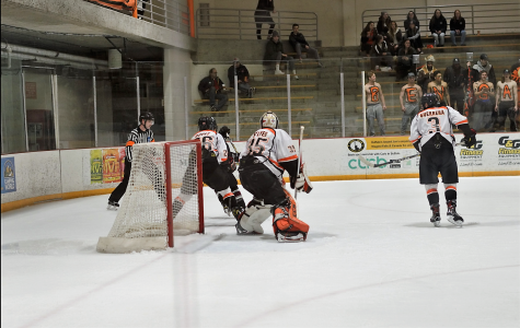 Senior goalie Ian Sylves made 28 saves in the Bengals' 4-3 win over Potsdam in the SUNYAC quarterfinals Wednesday