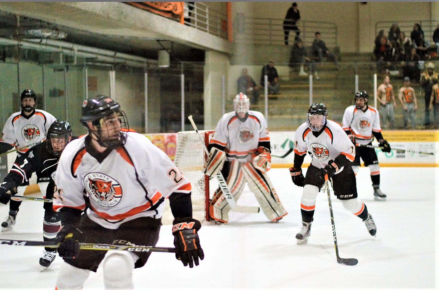 Hugo Petit and Zach Nieminen each had a goal as the Men's Hockey team lost to Geneseo 5-2 in the SUNYAC semifinals Saturday night.