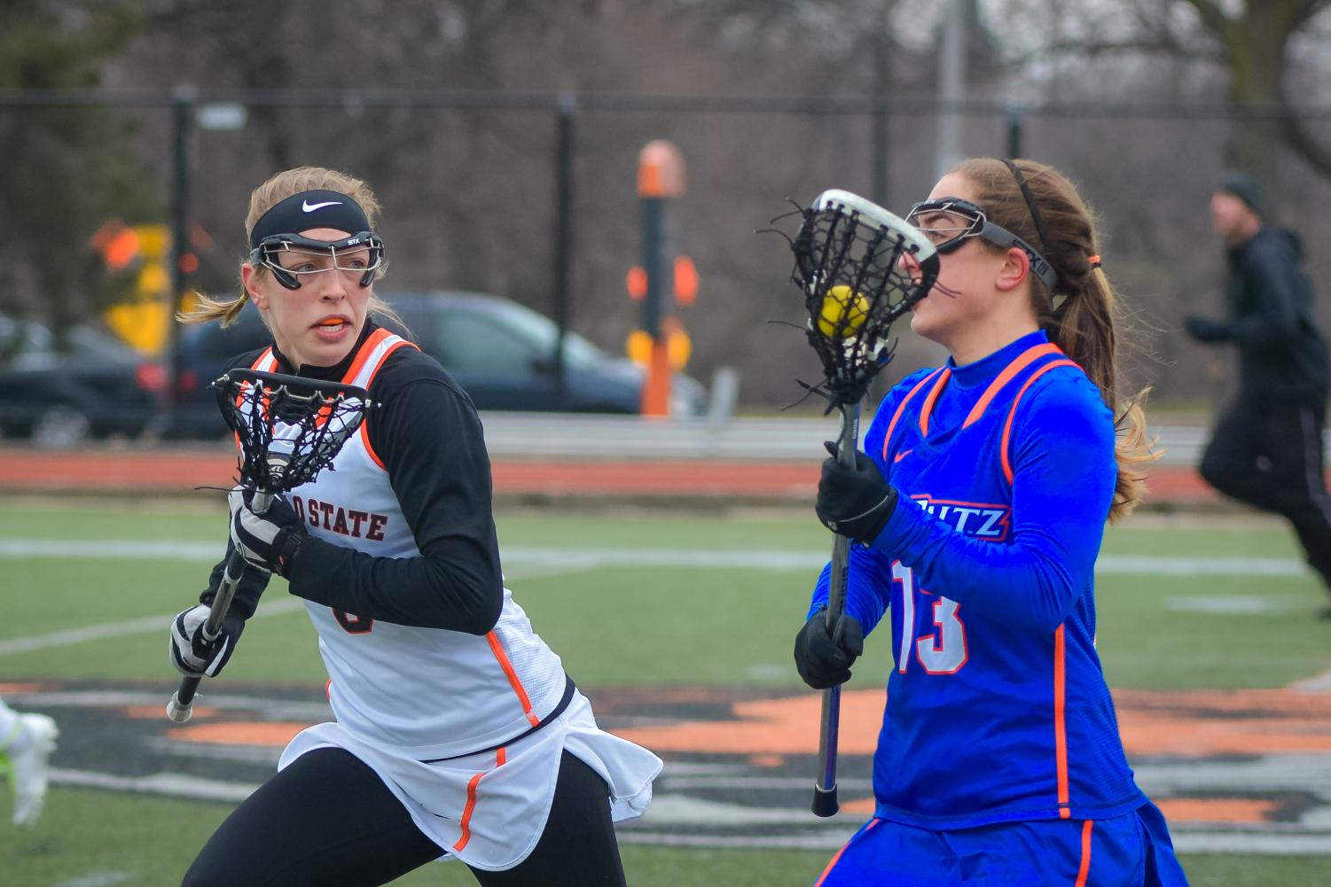 Ally Ruggieri is second in scoring for Women's Lacrosse this year with 43 points.