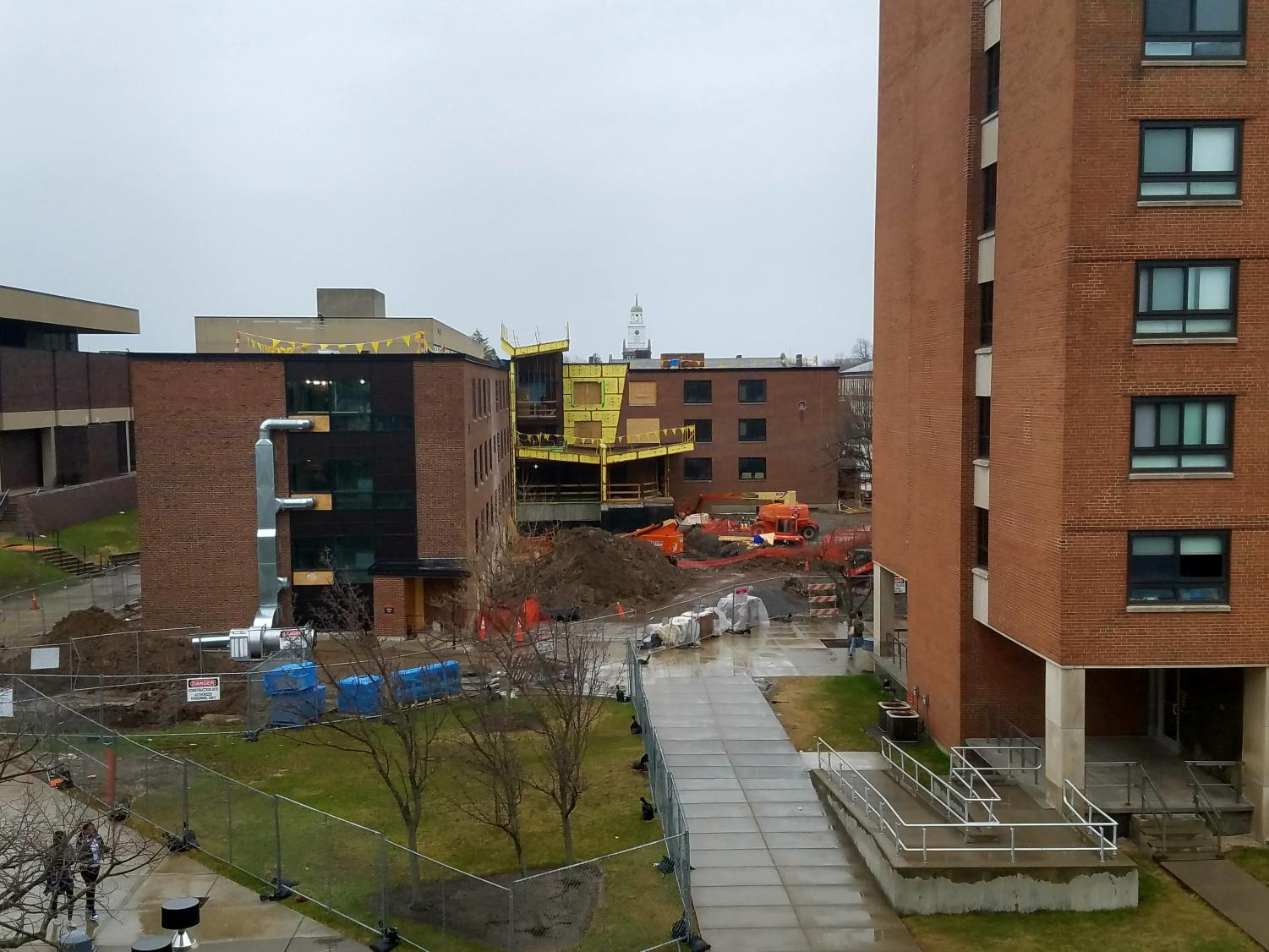 Construction is underway for Bishop Hall, to create new living quarters for Honor students.