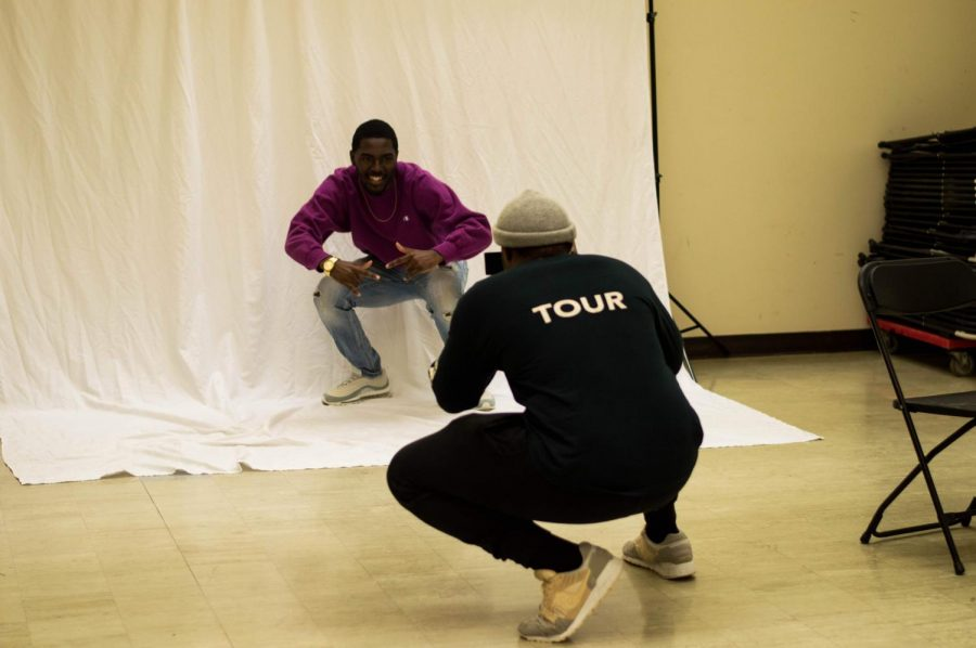 A student poses for the camera at KCC Vogue.