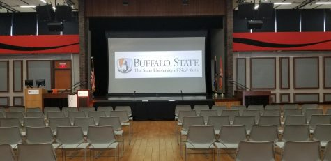Guest speaker Kylie Angell discusses sexual assault at SUNY Buffalo State