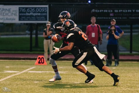 Football leans on the running game, gets first win vs. Hartwick; 41-7