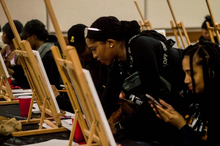 Students got artsy in the Campbell Student Union at USG's