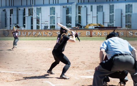 Playoff hopes for Softball dwindle, lose a pair to Oneonta