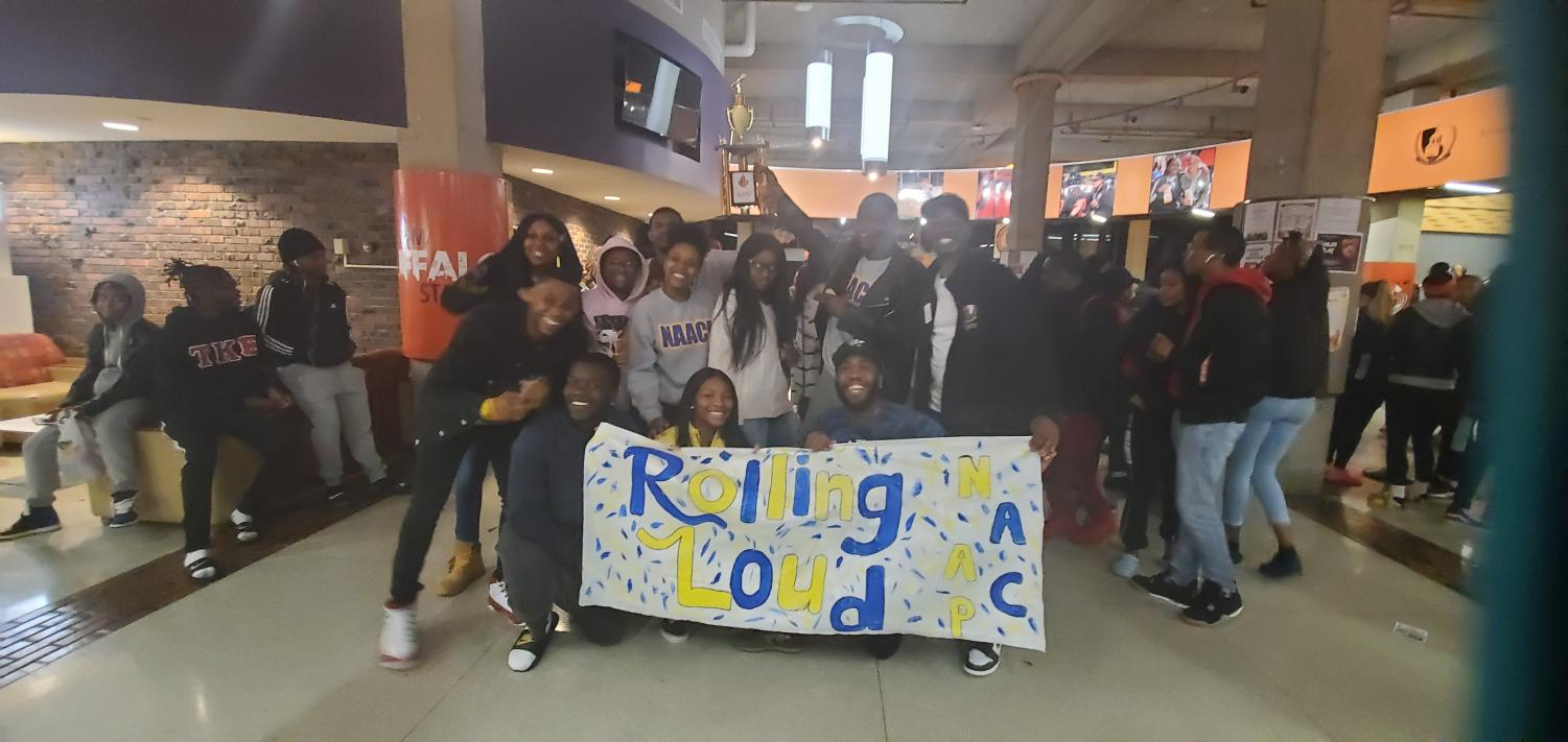 The SUNY Buffalo State chapter of the NAACP won first prize at the Lip Sync Battle Wednesday night.