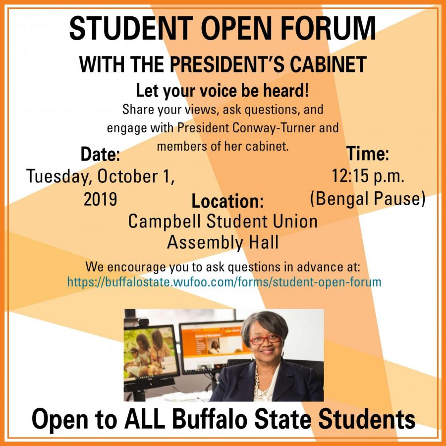 Campus Safety, depression and Food among the biggest concerns at the 2019 open forum